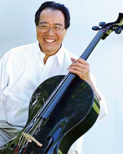 Photo of Yo-Yo Ma and his composite cello