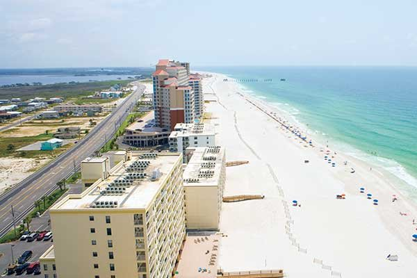 photo of aerial view of Orange Beach, Alabama