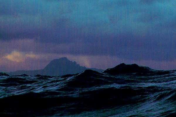 Photo of full moon rounding Cape Horn