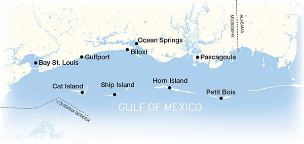 Map Of America Gulf Coast.Mississippi Gulf Islands Boatus Magazine