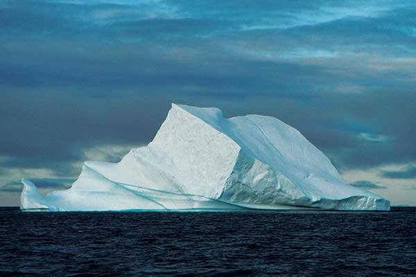 Photo of icebergs near Northwest Passage