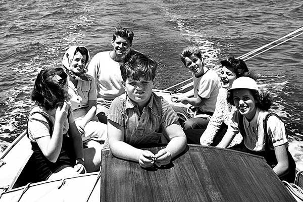 Photo from the book, Victura: The Kennedys, a Sailboat