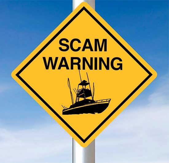 Photo of a scam warning sign