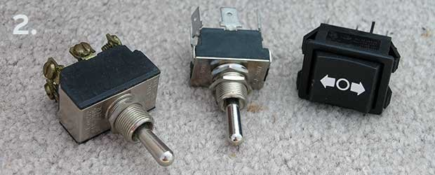 Photo of toggle switches