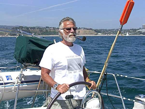 Photo of Jonathan Goldsmith at the captains wheel