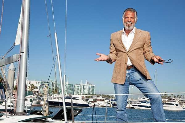 Photo of Jonathan Goldsmith on his boat