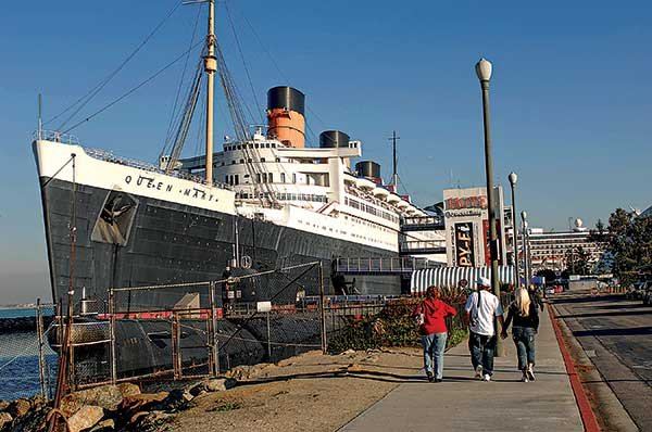 Photo of the Queen Mary in Long Beach, CA