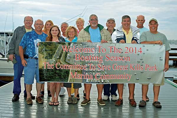 Photo of the Save Great Kills Park Marina Committee