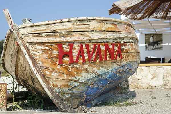Photo of a Cuban wooden boat