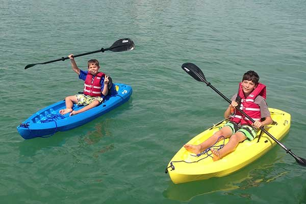 Photo of kids kayaking