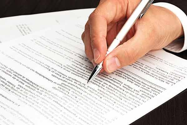 Photo of signing a contract