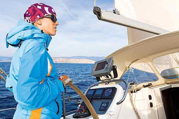 Photo of a woman sailing
