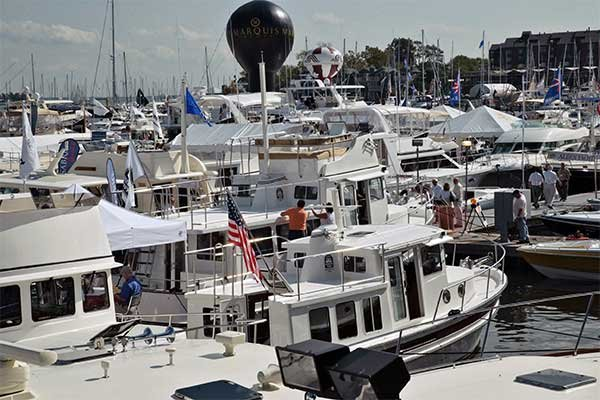 Photo of a boat show