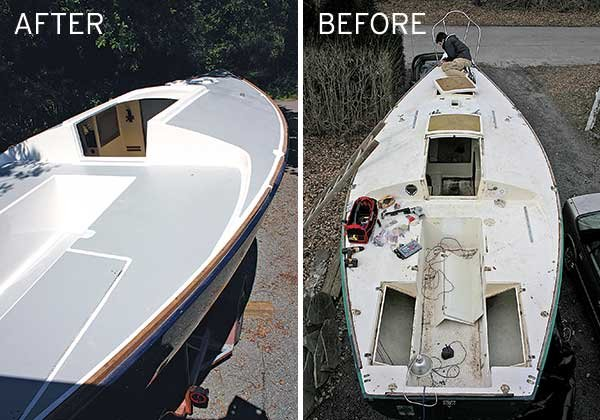 Tips for painting a boat deck boatus magazine before and after photos of a deck repaint solutioingenieria Image collections