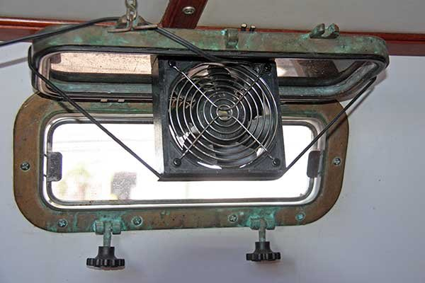 Closeup photo of a port fan