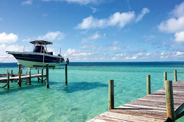 Photo of docked boat in the Abacos Islands