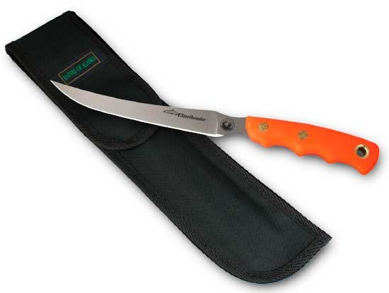 Photo of a Steelheader orange suregrip knife