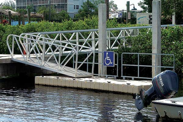 Photo of an ADA-compliant dock
