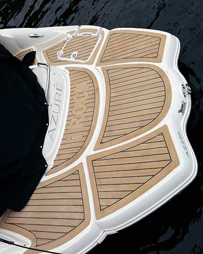 Boat deck alternatives boatus magazine photo of nuteak on swim platform of boat solutioingenieria Image collections