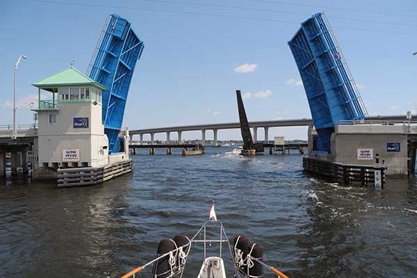 Photo of the rail bridge over St. Lucie River