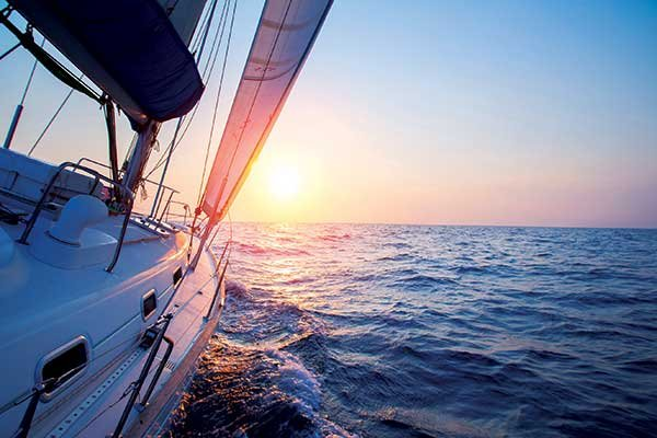 Photo of sailing into the sunset