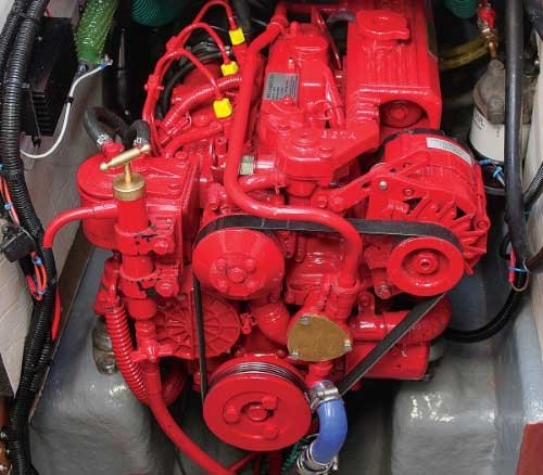 Photo of a diesel boat engine