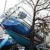 Thumbnail photo of damaged boat
