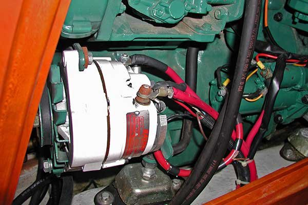 alternator and starter motor terminals unbooted