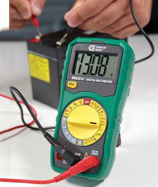Checking voltage with a multimeter