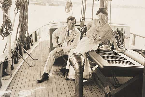 Jack London with wife Charmian