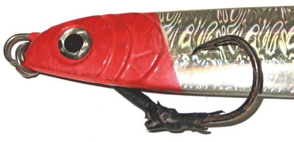 Red and white lure