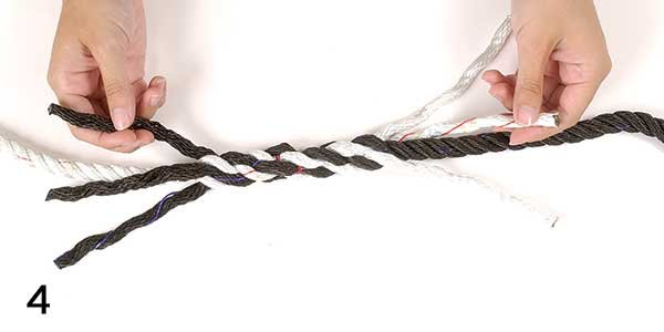 Splice three-strand rope Step 4