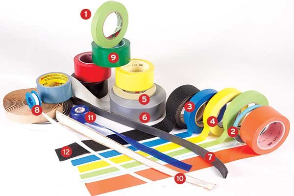 Various types of tape for onboard use