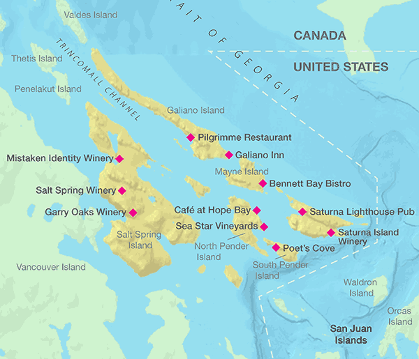 Canadian Gulf Coast Islands map