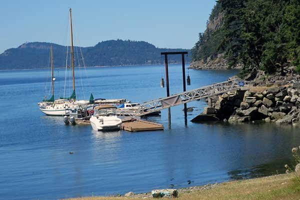 Crocker Point dock on Saturna Island