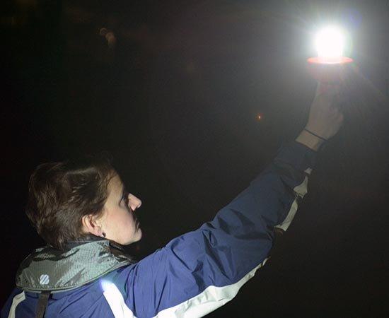 LED distress signal testing