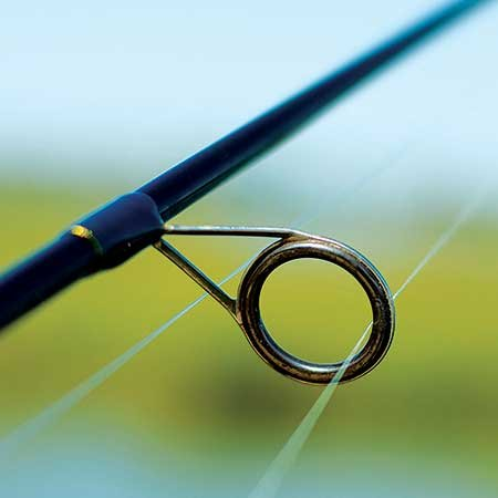 Fishing rod line guide