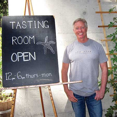 David Goudge, owner of the Sea Star Winery