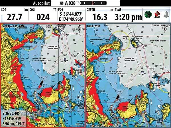 Broadband radar overlay
