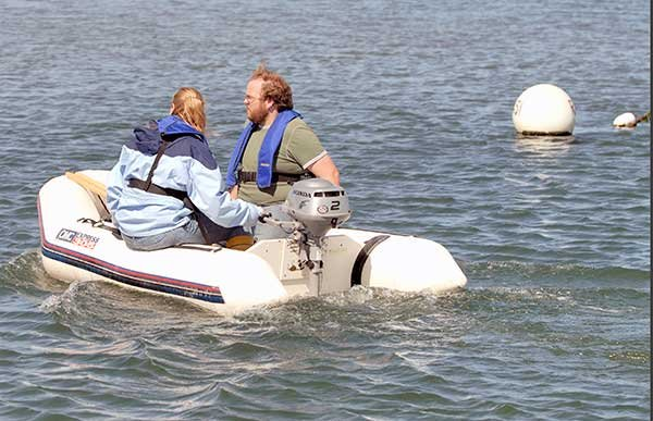 Couple in a dinghy