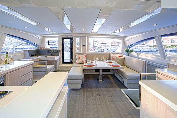 Leopard 48 Catamaran interior