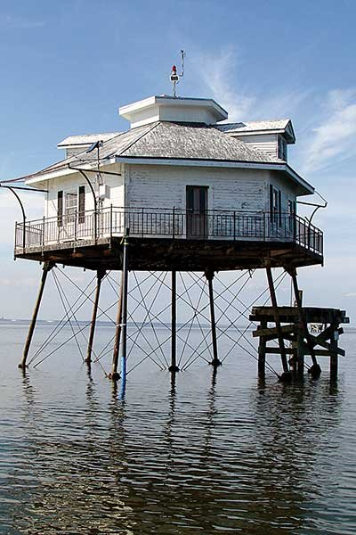 Middle Bay Light House in Mobile Bay
