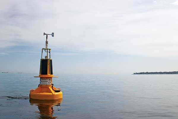Smart buoy on the Chesapeake Bay