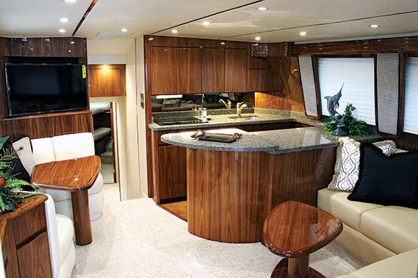 Viking 48C Sportsfishing Boat interior