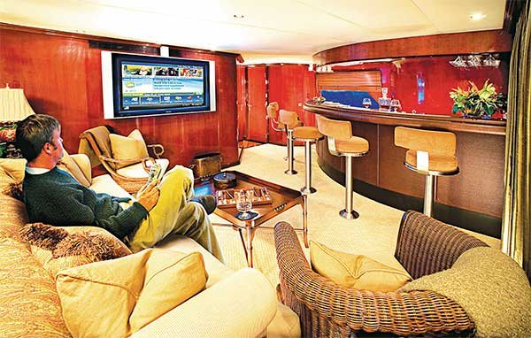 watching tv aboard installing a tv antenna boatus magazine