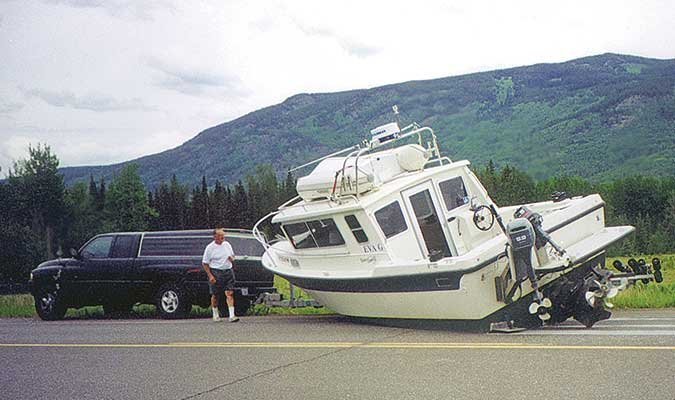 Boat trailer failure