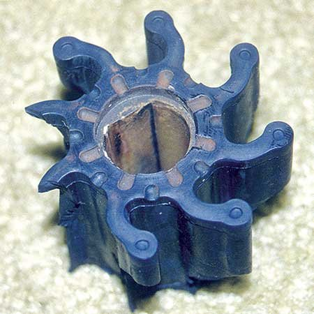 Broken impeller