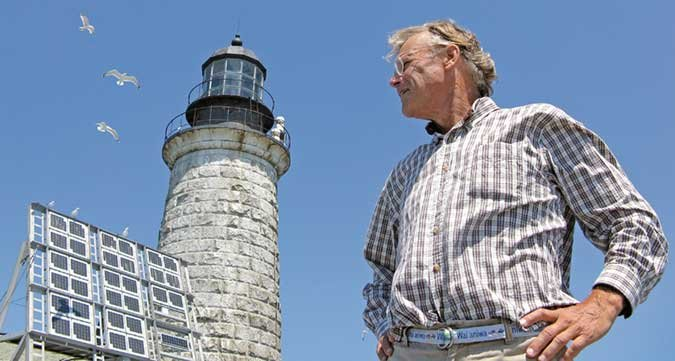 Ford Reiche and the Halfway Rock Light Statio