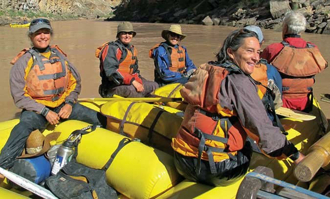 Paddling down the Colorado River