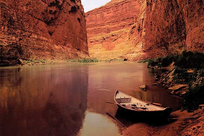 A placid stretch of the Colorado River